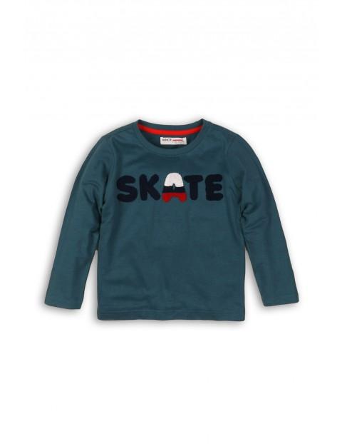 Bluzka dzianinowa z napisem Skate- długi rękaw
