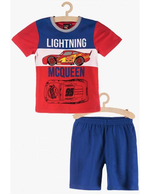 Pidżama chłopięca Auta McQueen czerwono-niebieska