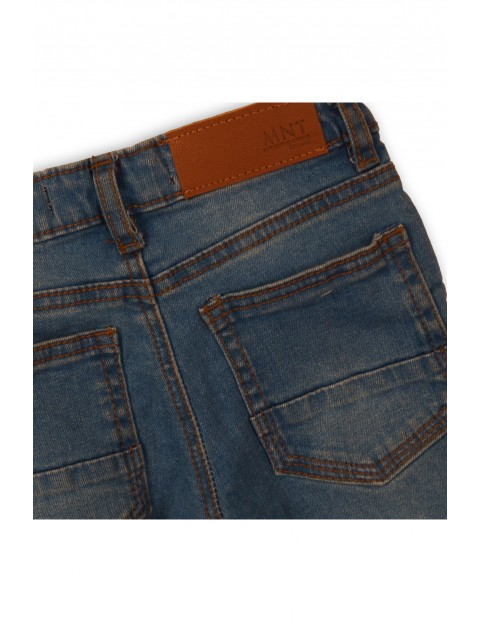 Spodnie chłopięce jeansowe- niebieskie