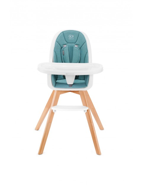 Krzesełko do karmienia 2w1 Tixi Kinderkraft turkusowy