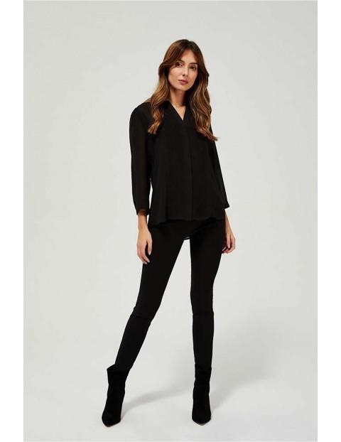 Koszula damska czarna z plisami