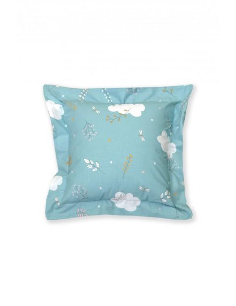 Poszewka na poduszkę dla dziecka niebieska w chmurki