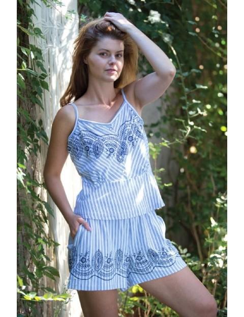 Letnia piżama damska w paski