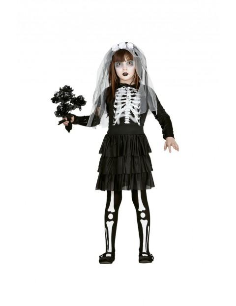 Strój karnawałowy dziewczęcy Panna Młoda Szkieletor 10-12 lat