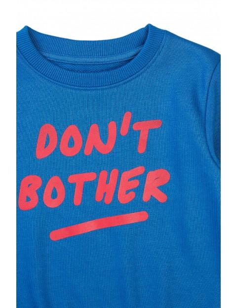 Bluza dresowa chłopięca niebieska