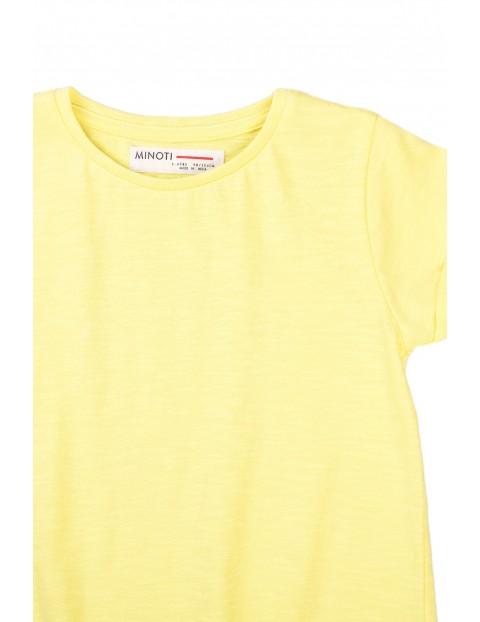 T-shirt dziewczęcy klasyczny żółty
