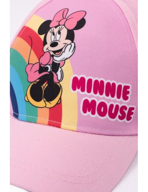 Czapka dziewczęca z daszkiem Myszka Minnie- różowa
