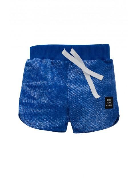 Spodenki chłopięce niebieskie- imitacja jeansu