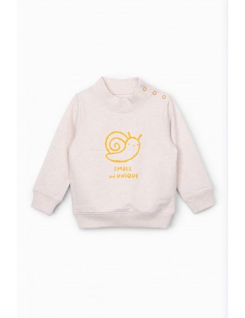 Bluza dresowa niemowlęca ze ślimakiem