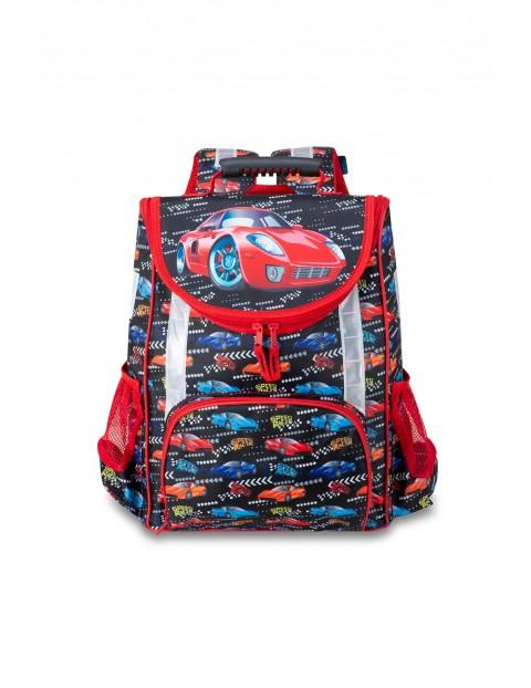 Tornister szkolny dla chłopca - samochody