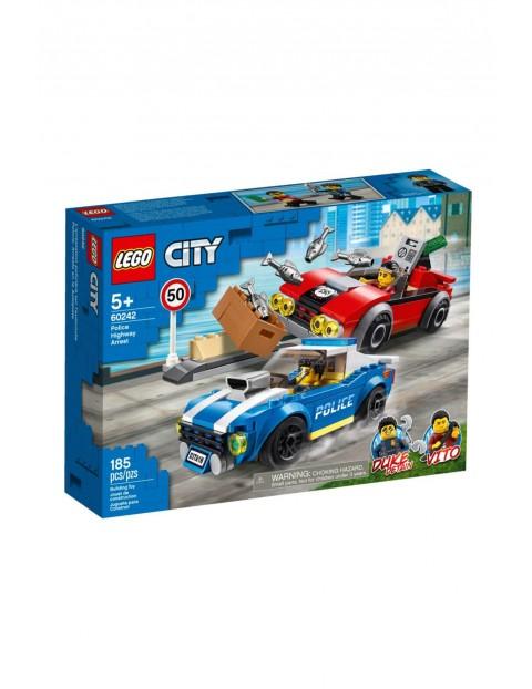Lego City - Aresztowanie na autostradzie - 185 elementy wiek 5+