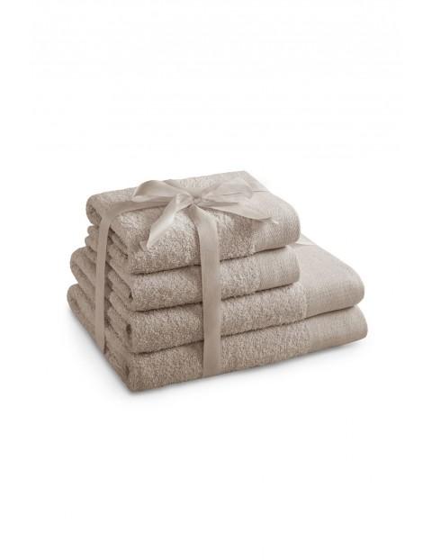 Zestaw ręczników AMARI beżowe - 4 sztuki - 2 ręczniki 70x140 cm, 2 ręczniki 50x100 cm