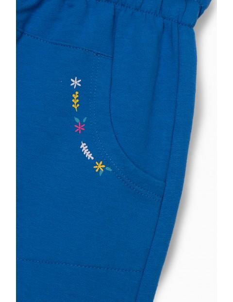 Spodnie dresowe niemowlęce  z obniżonym krokiem