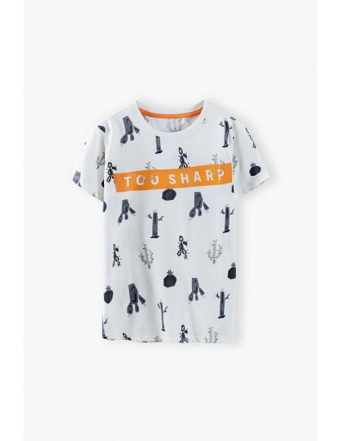 T-shirt chłopięcy w kaktusy