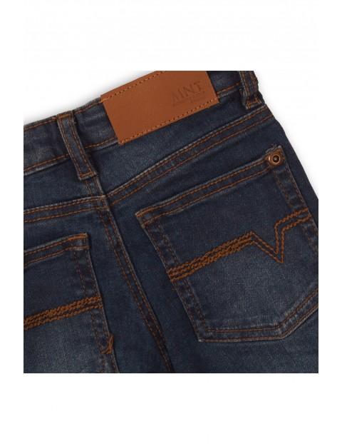 Granatowe spodnie niemowlęce