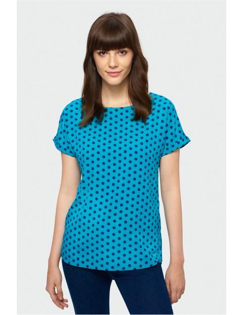 Niebieska bluzka w kropki