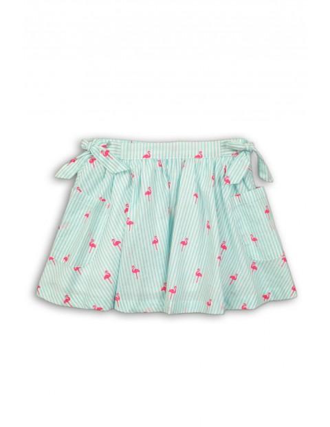 Spódnica dziewczęca na lato niebieska-flamingi