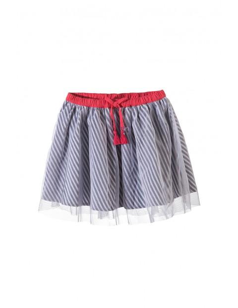 Spódnica dziewczęca z tiulową falbanką