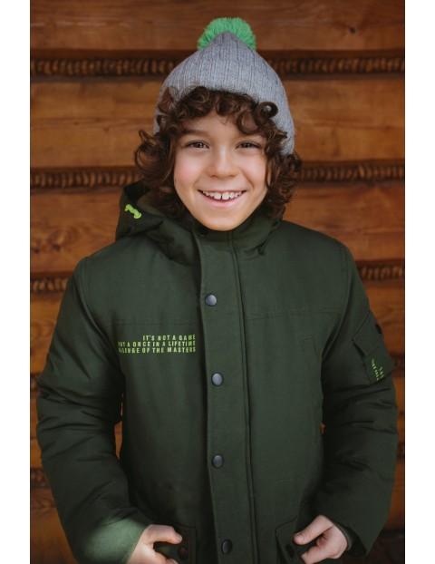 Kurtka dla chłopca -  w kolorze khaki