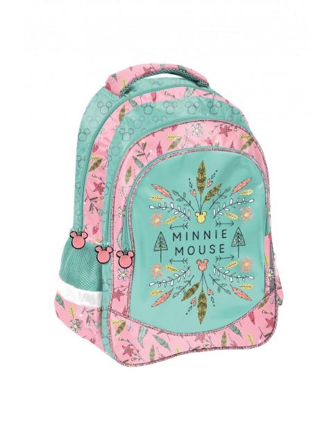 Plecak szkolny dwukomorowy z odblaskami Myszka Minnie
