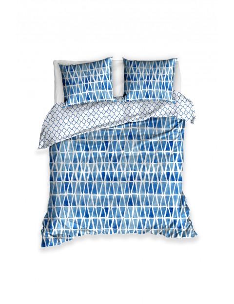 Komplet pościeli bawełnianej - niebieska 160x200+2x70x80 cm