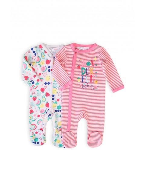 Pajace bawełniane niemowlęce - 2pak