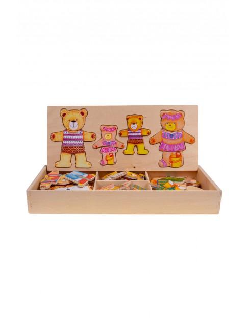 Układanka drewniana Puzzle 4 Misie Smily Play wiek 3+