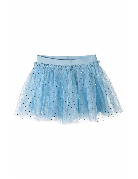 Spódniczka dziewczęca tiulowa niebieska z cekinami