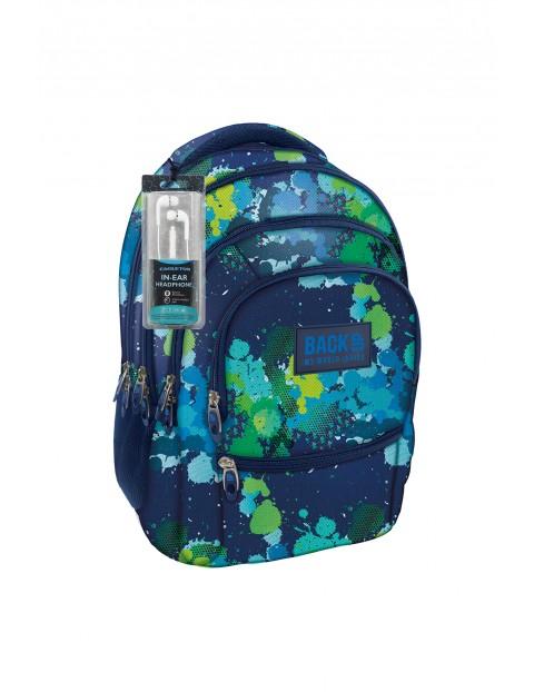 Plecak BackUP Model +SŁUCHAWKI w kolorowe plamki