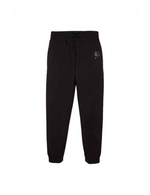 Spodnie dresowe dziewczęce- czarne
