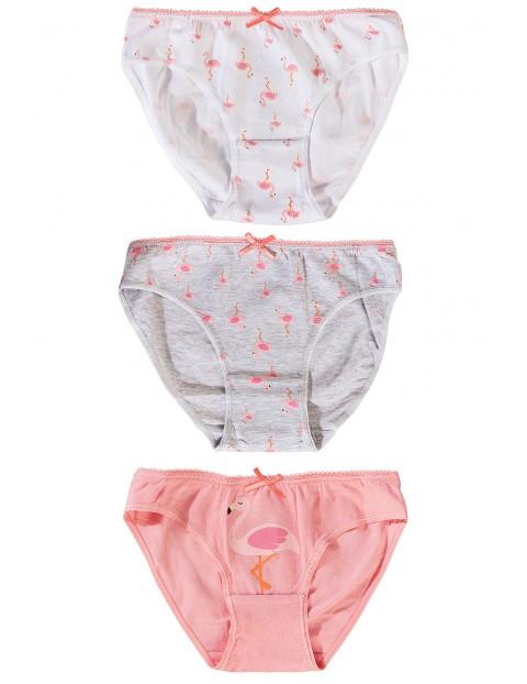 Majtki dziewczęce 3pak-flamingi