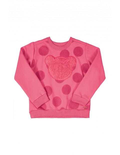 Bluza dresowa dla dziewczynki różowa z misiem