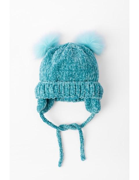 Czapka zimowa dla niemowlaka- wiązana