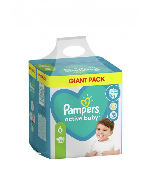 Pampers Active Baby, rozmiar6, 56szt, 13-18kg