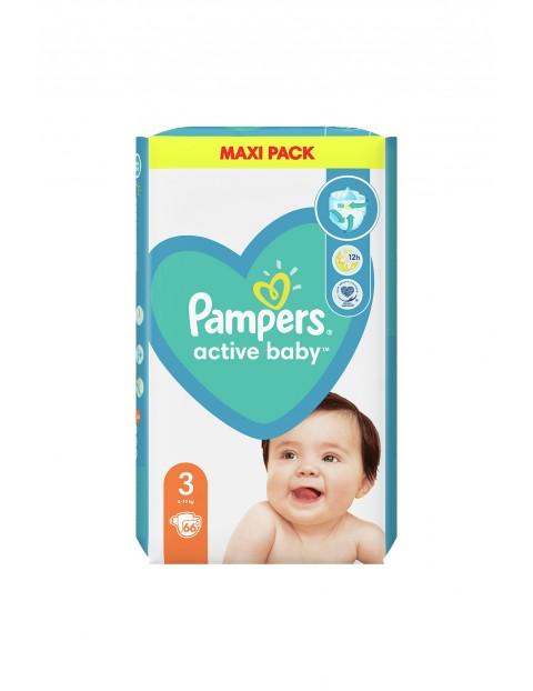 Pampers Active Baby, rozmiar3, 66pieluszek, 6-10kg