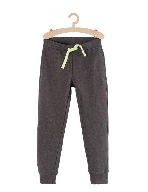 Spodnie chłopięce dresowe szare z kieszeniami