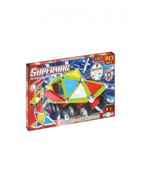 Klocki magnetyczne Supermag Tags Wheels 143el wiek 3+