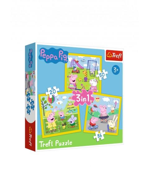 Puzzle 3w1-Wesoły dzień Peppy wiek 3+