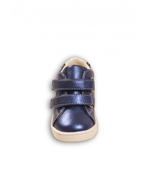 Buty dziewczęce niebieskie na rzepy