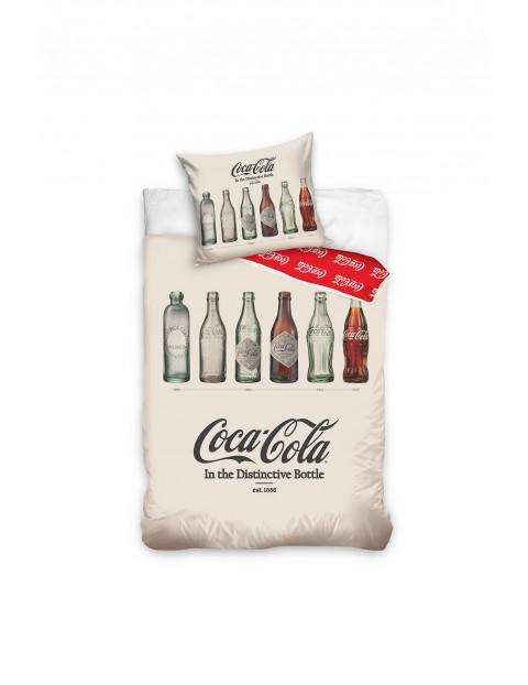 Komplet pościeli bawełnianej Coca Cola 140x200+70x90 cm