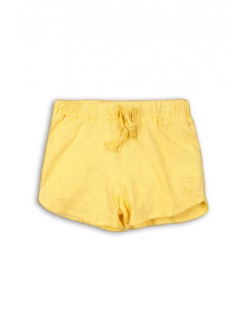 Dzianinowe szorty dla niemowlaka-żółte