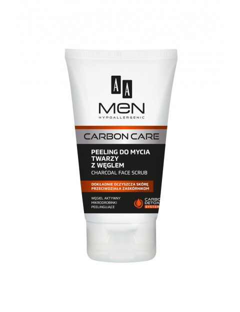 AA Men Carbon Care Peeling do mycia twarzy z węglem 150 ml