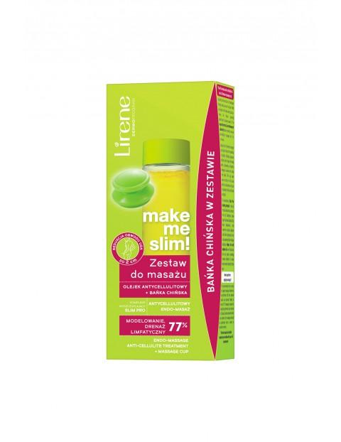 Lirene Make Me Slim! Zestaw do masażu olejek antycellulitowy + bańka chińska