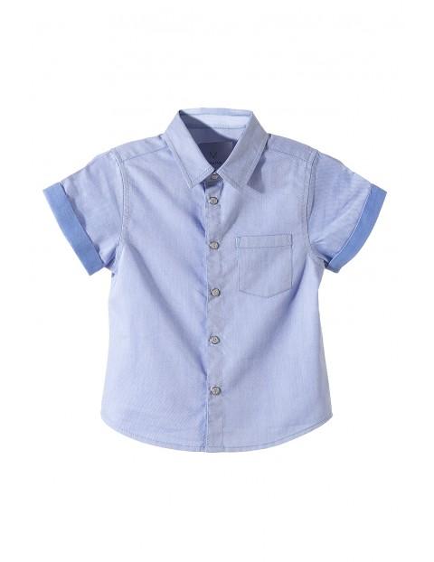 adb1e7c4296dba Koszula z krótkim rękawem dla chłopca-niebieska