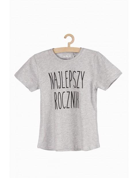 T-shirt chłopięcy szary- Najlepszy Rocznik