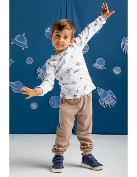 Bawełniana piżama  chłopięca z długim rękawem Space