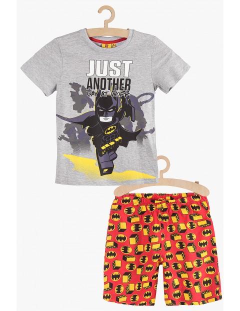 Piżama chłopięca Lego Batman szaro-czerwona