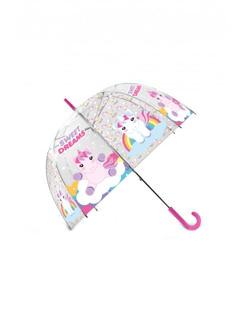 Parasolka przezroczysta, manualna, Sweet Dreams