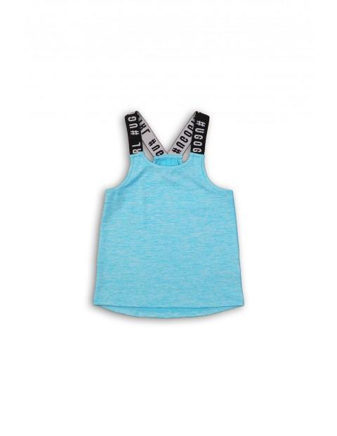 Koszulka sportowa dla dziewczynki - niebieska