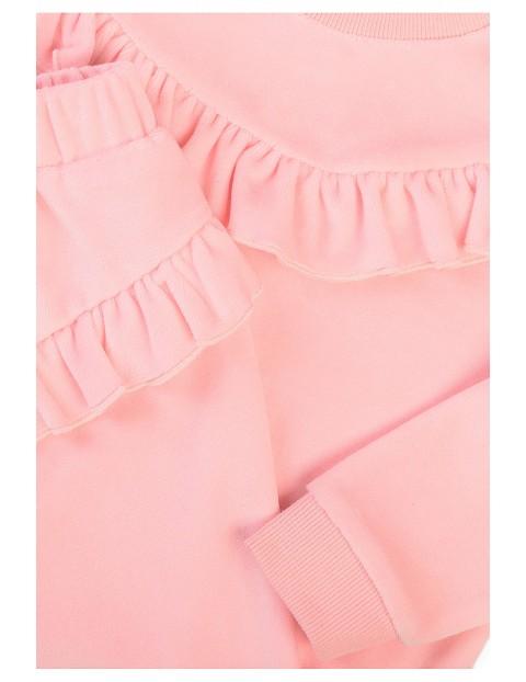 Bawełniany komplet dziewczęcy dwuczęściowy- dresy